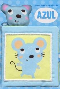 Azul: amigos animais com chocalho -