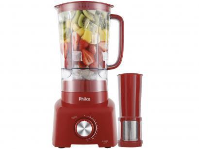 Liquidificador Philco PH1200V 3L Vermelho - com Filtro 12 Velocidades 1200W