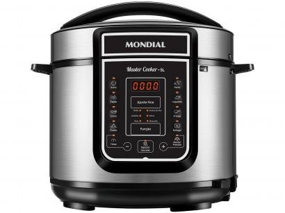 Panela de Pressão Elétrica Digital Mondial - Master Cooker Red PE-38 900W 5L...