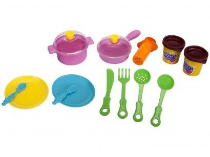 Massinha de Modelar Xplast Amasse & Brinque - Cozinha Gourmet 2 Cores