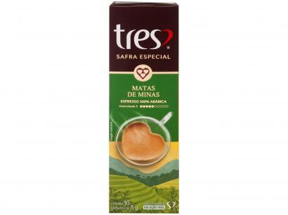 Cápsula de Café Espresso Matas de Minas - Safra Especial TRES 3 Corações 10 Cápsulas