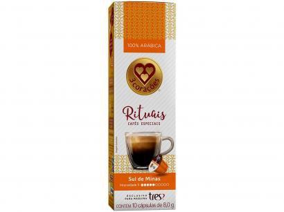 Cápsula de Café Espresso Sul de Minas Rituais TRES - 3 Corações 10 Cápsulas