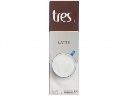 Cápsula Latte TRES 3 Corações 10 Cápsulas