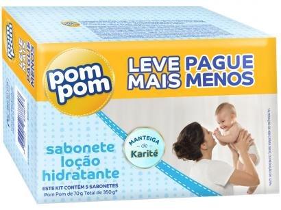 Sabonete Infantil Pom Pom Hidratante 80gr - 5 Unidades