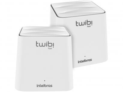 Roteador Mesh Intelbras Twibi Fast 1200mbps - 2 Antenas 2 Portas 2 Unidades