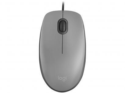 Mouse Logitech Óptico 1000DPI 3 Botões M110 Cinza