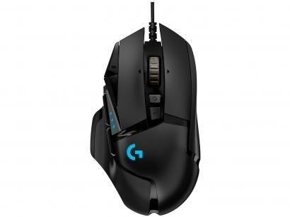 Mouse Gamer Logitech Óptico 16000dpi - 11 Botões G502 HERO