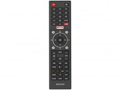 "Smart TV 4K LED 49"" Semp SK6200 Wi-Fi HDR - Conversor Digital 3 HDMI 2 USB"