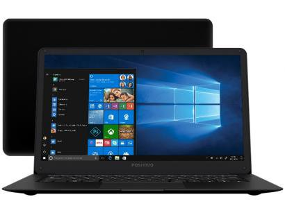 "Notebook Positivo Motion Black Q 232A Intel Atom - 2GB SSD 32GB 14"" Windows 10..."