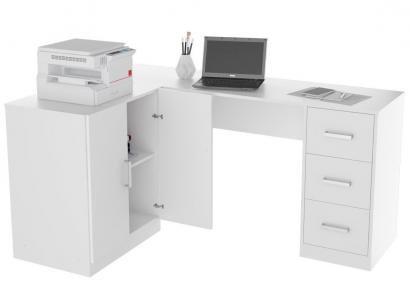 Escrivaninha de Canto 3 Gavetas 2 Portas - Appunto Office KIT1000