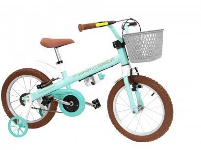 Bicicleta Infantil Aro 16 Nathor Anthonella - com Rodinhas Freio V-Brake