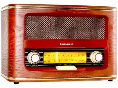 Rádio Portátil Goldship AM/FM - Bluetooth Nostalgic Blues