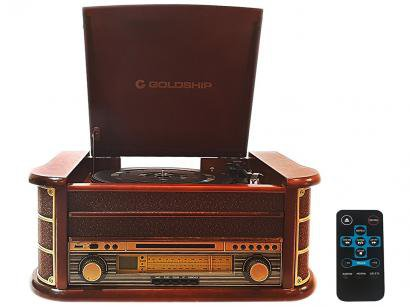 Vitrola Goldship Nostalgic Rock CXR-1497 - Bluetooth USB CD Player