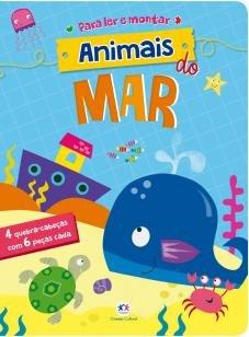Animais do mar - 4 Quebra-cabeças com 6 peças cada