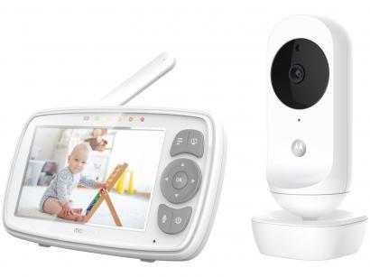 Babá Eletrônica Motorola EASE34 com Câmera - Visão Noturna Alcance até 300m