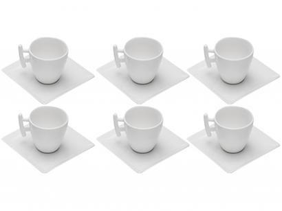Jogo de Xícaras de Café e Chá Porcelana 80ml - S&P Whyte 6 Peças