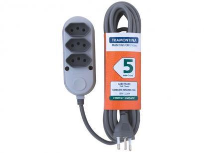 Extensão Elétrica 5m 3 Tomadas Tramontina - 57504021