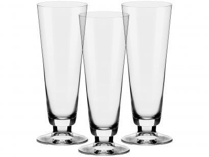 Jogo de Taças para Cerveja Cristal 380ml - 3 Peças Alumina Crystal Pilsner Classic
