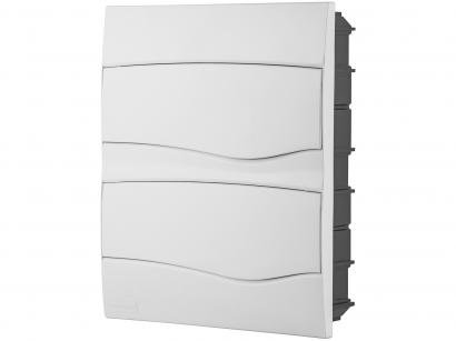 Quadro de Distribuição 24 DIN 16 NEMA Tramontina - Embutir Branco