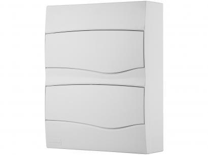 Quadro de Distribuição 24 DIN 16 NEMA Tramontina - Sobrepor Branco