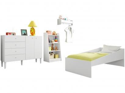 Quarto Infantil Completo com Mini Cama Cômoda - e Estante Art In Móveis Meu...