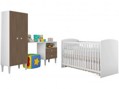Quarto de Bebê Completo com Berço Guarda-Roupa - Art In Móveis Aconchego
