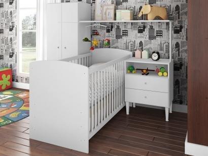 Quarto de Bebê Completo com Berço Guarda-Roupa - Art In Móveis Ternura