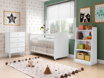 Quarto de Bebê Completo com Berço Cômoda e - Estante Art In Móveis Aconchego