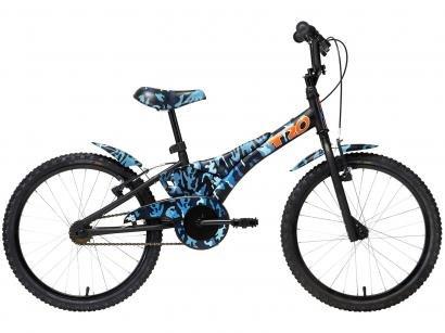 """Bicicleta Infantil Aro 20"""" Groove Camuflada Azul - Freio V-Brake"""