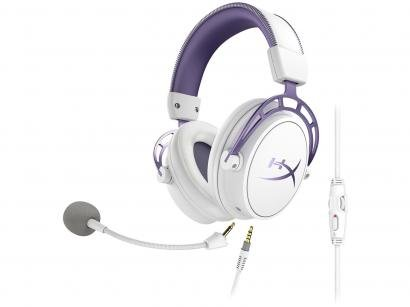 Headset Gamer HyperX Cloud Alpha Purple - para PS4, PC, Xbox One, Switch