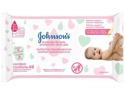 Lenço Umedecido Johnsons Baby - Extra Cuidado 48 Unidades