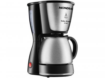 Cafeteira Elétrica Inox Mondial Dolce Arome - C-34 JI Preto