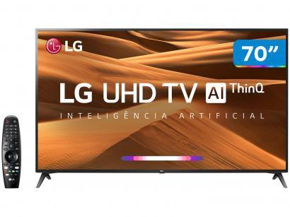 """Smart TV 4K LED 70"""" LG 70UM7370PSA Wi-Fi - Inteligência Artificial Controle..."""