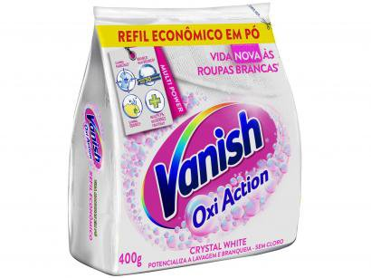 Tira Manchas Vanish Crystal White Oxi Action em Pó - Refil 400g
