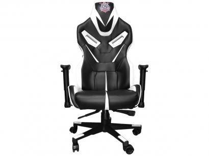 Cadeira Gamer Mymax Reclinável Preta e Branca - Corinthians