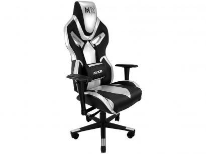 Cadeira Gamer Mymax Reclinável Preta e Prata - MX9