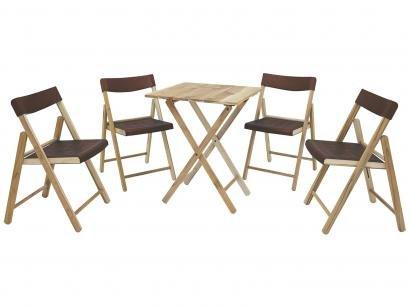 Mesa 4 Cadeiras Quadrada Potenza - Tramontina