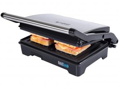 Grill Cadence GRL615 Club Sandwich 2 em 1 - Retangular 750W Antiaderente