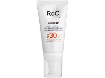 Protetor Solar Corporal RoC FPS 30 Minesol - Oil Control Sérum Antioxidante 50g