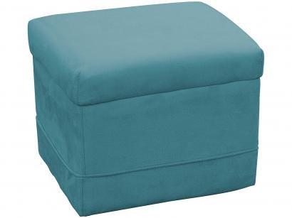 Puff Decorativo Quadrado Azul Carinho - Matrix