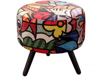 Puff Decorativo Redondo Alegria - Matrix