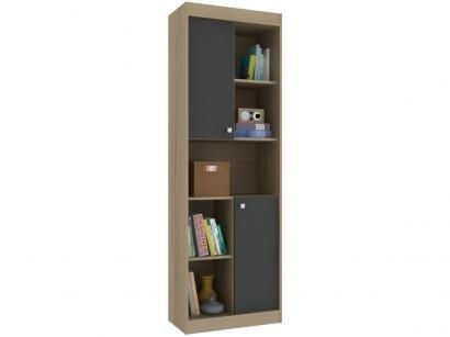 Estante para Livros 2 Portas 5 Nichos Hecol Móveis - Home Office HO-2925