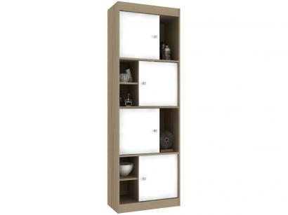 Estante para Livros 4 Portas 6 Nichos Hecol Móveis - Home Office HO-2926