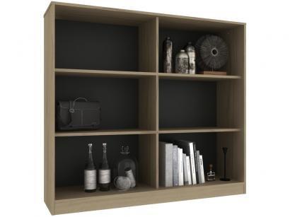 Estante para Livros 6 Nichos Hecol Móveis - Hecol Móveis Home Office HO-2922