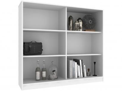 Estante para Livros 6 Nichos Hecol Móveis - Home Office HO-2922