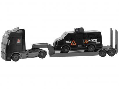 Caminhão de Brinquedo Roma Diesel Tático Blindado - Roda Livre Roma Brinquedos com Acessórios