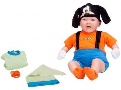 Boneco Classic Dolls Recém Nascido Pateta - com Acessórios Roma Brinquedos