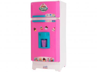 Geladeira de Brinquedo Cupcake Magic Toys - 17 Peças