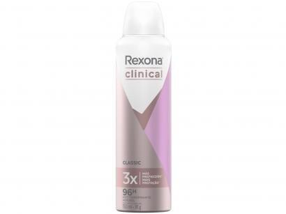 Desodorante Rexona Aerossol Antitranspirante - Feminino Clinical Classic 150ml