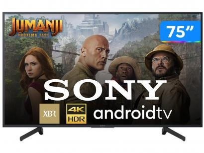"""Smart TV 4K LED 75"""" Sony XBR-75X805G Android Wi-Fi - HDR Inteligência..."""